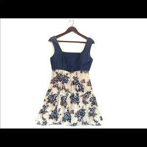 Vtg 90s Floral Mini Dress